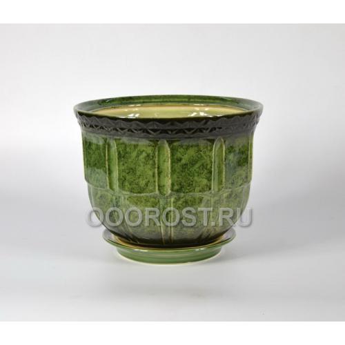 Горшок Атлант №2 (зеленый) 8л, d27см, h20см