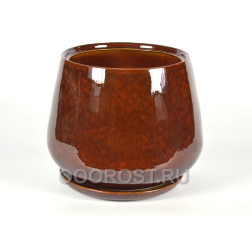 Горшок Скарлет №1 v19л, d28, h31 коричневый