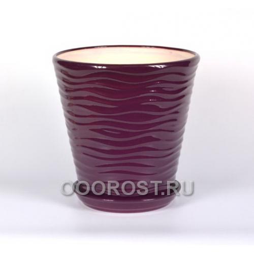 Горшок Новая волна 13,5л (глянец фиолет)   d32см, h32см