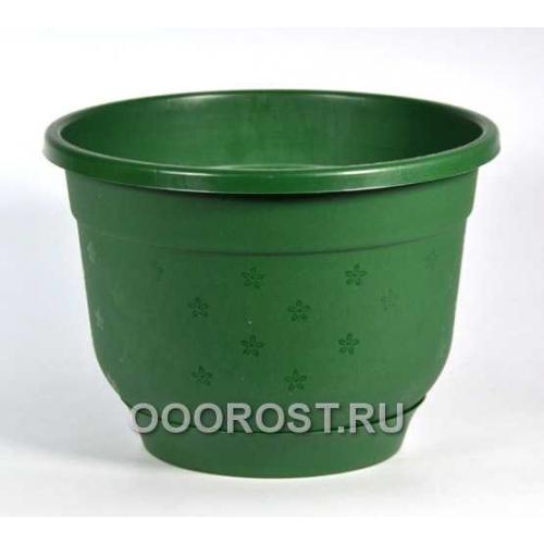 Горшок Флокс 4,2л зеленый с поддоном