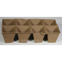 ЭТ Торфяные горшки квадратные, блок 8 ячеек, d 7см, 0,2л