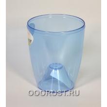 Кашпо Орхидея d12 синее, прозрачное