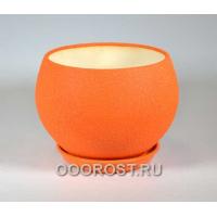 Горшок Шар №1  (шелк оранж)  4,1л  d23см