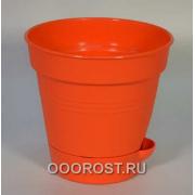 Горшок Глория с нижним поливом d12 оранжевый