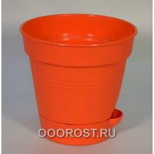 Горшок Глория с нижн. поливом d12 оранж