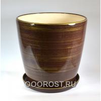 Горшок Грация №0 (глянец шоколад-золото) 30л, d40см, h39см