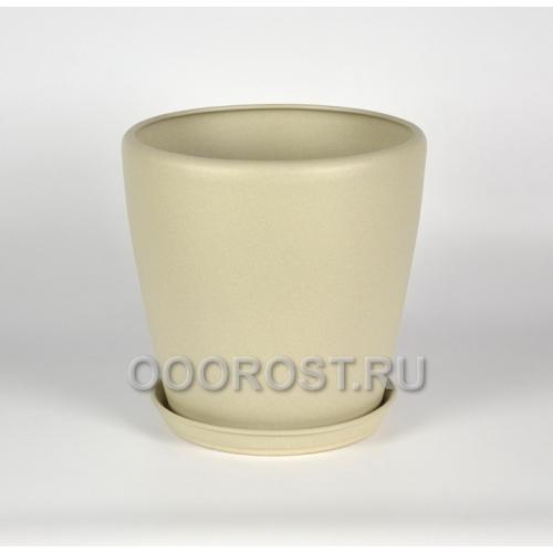 Керамический горшок Грация 20л крошка бежевый d33см, h31см