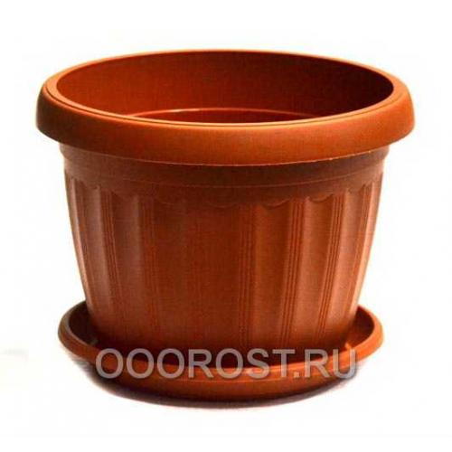 Горшок Терра d12 коричневый