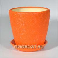 Горшок Грация №2 (шелк оранжевый) 4,5л d 20см
