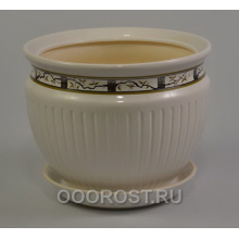 Горшок Антика №1 (Бел сакура)  5л,  d25см