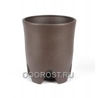 Керамический горшок Везувий крошка шоколад 20л, d33 см, h 37.5 см