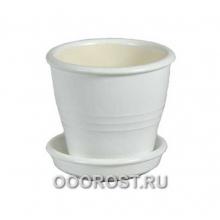 Горшок Ведро №5 матовый белый    0,23л, d9, h8см