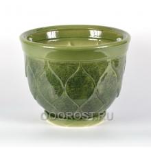 Горшок Кумир малый 15л, d36 см, 27 см зеленый