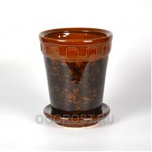 Горшок Альфа №3 коричневый 3.6 л