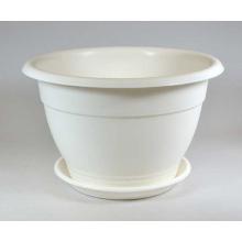 Горшок Приз d30см 6,3л (бел) с поддоном d22 см