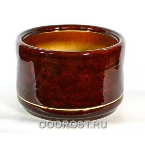Большой горшок Цилиндр 31л коричневый