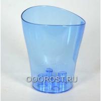 Кашпо д/орхид Ника 13*15,5 синий-прозрач