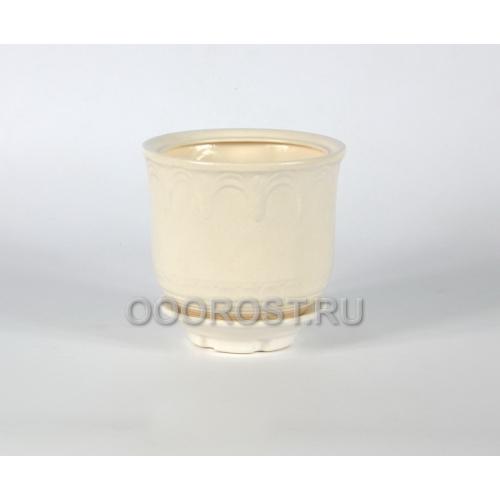 Горшок Лилия №3 (белый)  2л, D17см, H15см