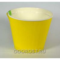 Горшок Ибис с двойным дном d17.9, h14.7 желто-белый
