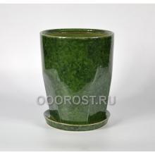 Горшок Авангард №1 (зеленый) d23, h29, v9л
