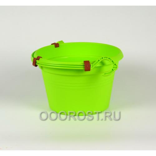 Горшок Глория подвесной d25, h16 см, 4л оливковый