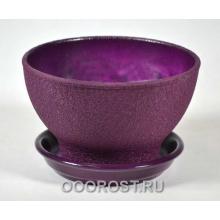 Горшок Бонсайница Шелк фиолет     d17см, h10см