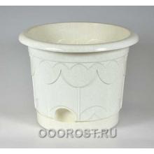 Горшок Тюльпан d27,5см 8,5л (мрамор)  с поддоном