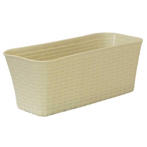 Ящик балконный Ротанг 40см Белый