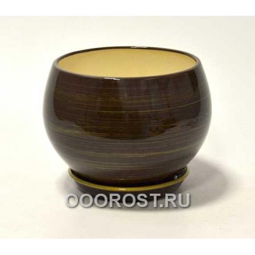 Горшок Шар №1  (глянец Шок-золото)  4,1л  d23см