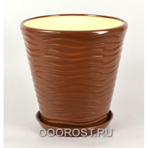 Горшок Новая волна 13,5л (глянец молочный шоколад) d32см, h32см