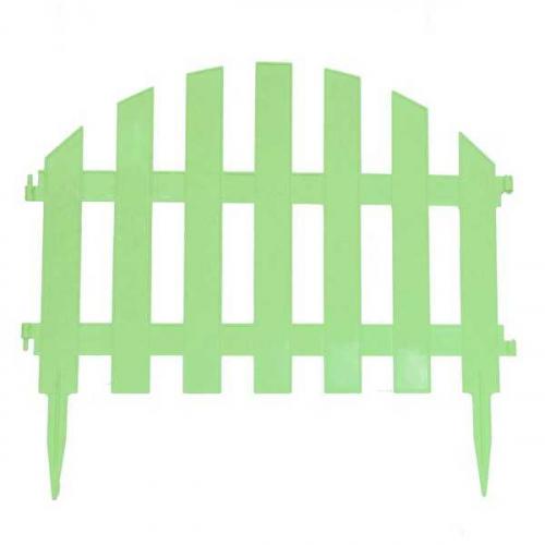 Заборчик Уютный сад салатовый (дл 2,67м, выс 34,5см, 7секций)