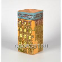 Керамическое кашпо домик Нидерланды № 6 высота 27см, ширина 13*13см, 3.8л