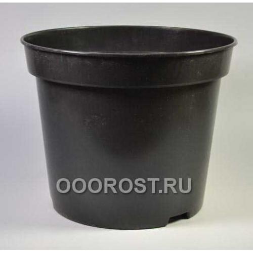 Горшок рассадный круглый SBX25 d38, v25л черный