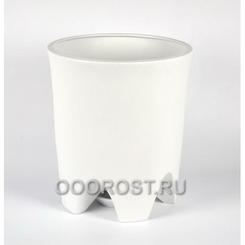 Керамический горшок Везувий крошка белая 20 л, d33 см, h 37.5 см