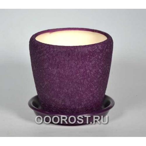 Горшок Грация №4 (шелк фиолет) 1,2л d13,5см