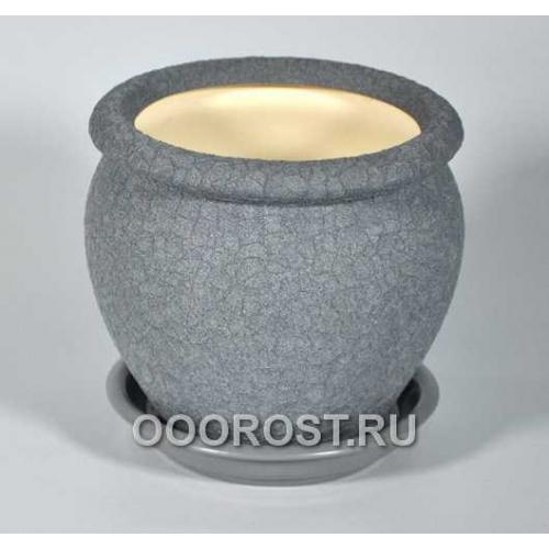 Горшок Вьетнам №4 (шелк металлик) 1,5л, d17см