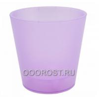 Кашпо Деко со вставкой d16см, h15,5см фиолетово-прозрачное