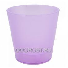 Кашпо Деко со вставкой d13см, h12.5см фиолетово-прозрачное