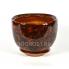 Горшок Жемчужина №1 коричневый 7,8л, d30см, h20см