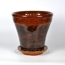 Горшок Альфа №1 коричневый 13 л