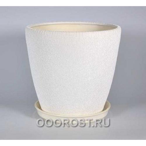 Горшок Грация №1 (шелк бел) 10 л
