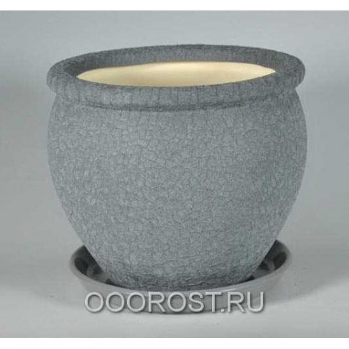 Горшок Вьетнам №3 (Шелк металлик), 5л, d24см