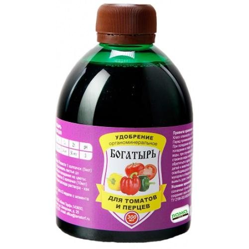 Жидкое удобрение Богатырь Для томатов и перцев 300мл