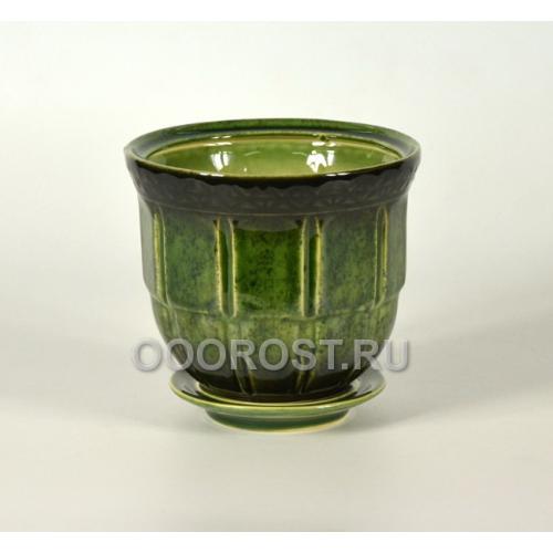 Горшок Атлант №4 зеленый 1,6л, d16см, h13см