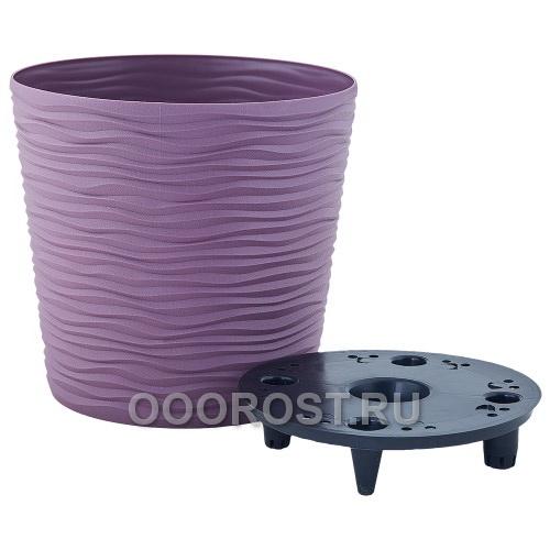 Кашпо Фьюжн низкое со вставкой d16*14,5см фиолетовое