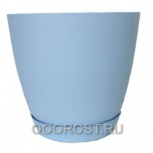 Горшок Камея 1.4л голубой d13.8см h13см