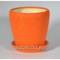 Горшок Грация №3 (шелк оранжевый) 2,3л d17см
