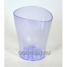 Кашпо д/орхид Ника 16*19 фиолет-прозрач
