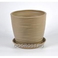 Горшок Грация-Волна №4 (крошка капучино) 1л, d13,5см