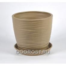 Горшок Грация-Волна №2 (крошка капучино) 4,3л, d22, h19см